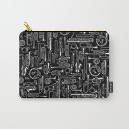 Horns B&W Carry-All Pouch