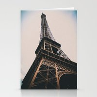 eiffel tower Stationery Cards featuring Eiffel Tower by Christine Workman