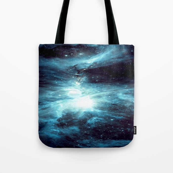Orion Nebula Teal Blue Tote Bag