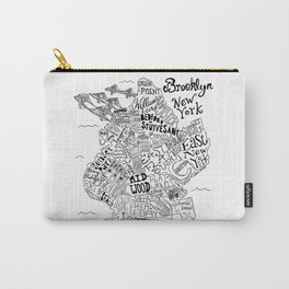 Brooklyn Map Carry-All Pouch