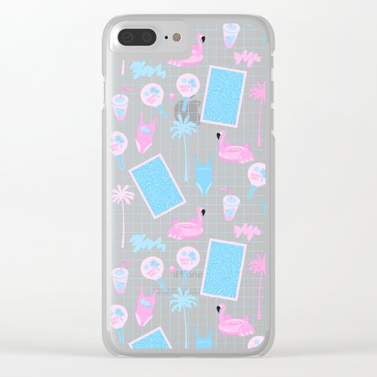 Pool party Clear iPhone Case