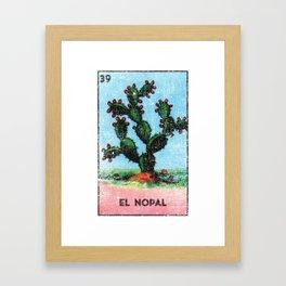 El Nopal Mexican Loteria Bingo Card Framed Art Print