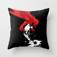 thor Throw Pillows featuring Thor by Irene Flores