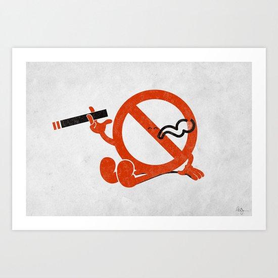 Smoke Break Art Print