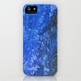 Fever And Feathers, #2, Blue iPhone Case