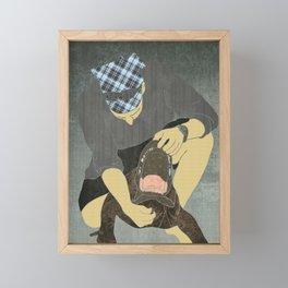 Alligator wrestling Framed Mini Art Print
