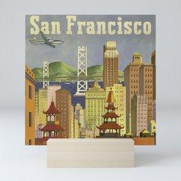 Vintage San Fransisco Poster Mini Art Print