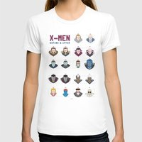 x men T-shirts featuring X-MEN BEFORE & AFTER by Berkay Daglar