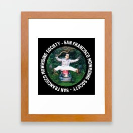 San Francisco Mowriding Society Framed Art Print