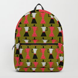 Ole coffee pot in olive green Backpack