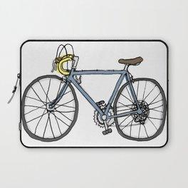 Vintage Bicycle (original blue + yellow) Laptop Sleeve