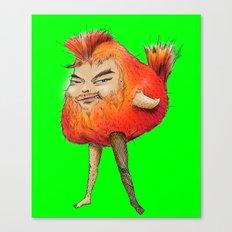 ugly angry angry boy bird Canvas Print