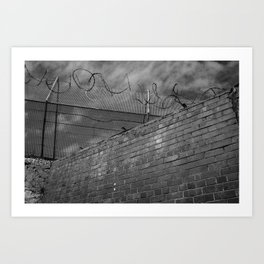 Brick and wire Art Print