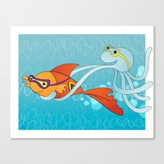Goldfish & Octopus Canvas Print