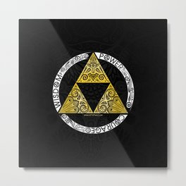Zelda - triforce circle Metal Print