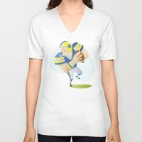 football V-neck T-shirts featuring Football by Dues Creatius