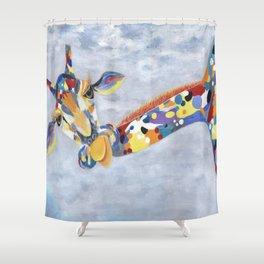 Laffy Giraffy Shower Curtain
