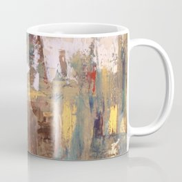 """Thinking in Color!..My Leo... Miaou miaou: Abstract Acrylic Painting of a lion, the """"cat"""". Coffee Mug"""