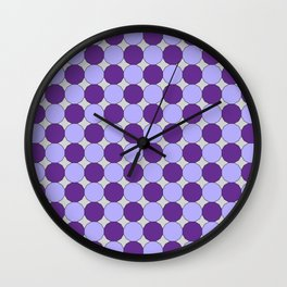Purple Dodecagons on Silver Wall Clock