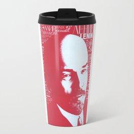 Russia, URSS Vintage Poster, Lenin Travel Mug
