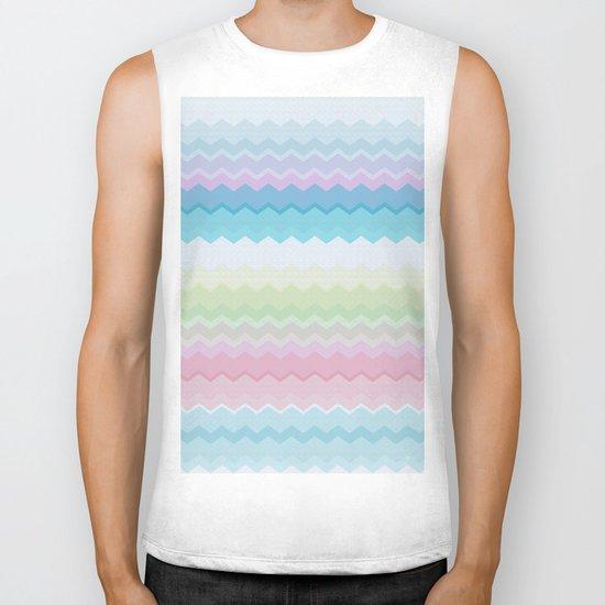 Rainbow pattern Biker Tank