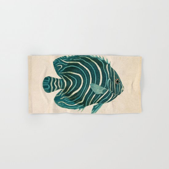 Green Fish Hand & Bath Towel