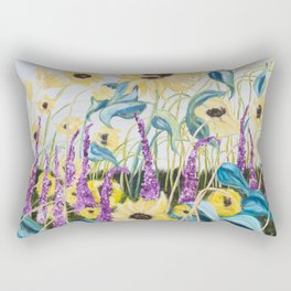 Diane L - Champ d'amour Rectangular Pillow