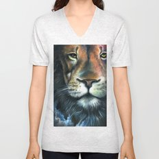 Lion in the Clouds Unisex V-Neck