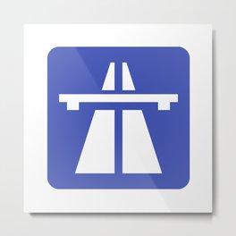 Autobahn Sign Metal Print