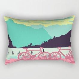 Bicycles on the lake Rectangular Pillow