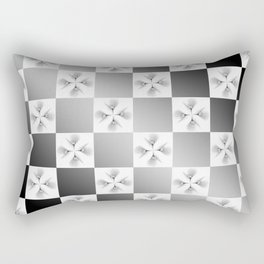 Pussy Checkerboard Abstract Rectangular Pillow
