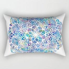 Mandala Little Mermaid Ocean Blue Rectangular Pillow