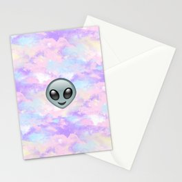 Alien Kawaii Emoji Stationery Cards