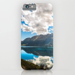 Lake Wakatipu Panorama at Golden Hour iPhone Case