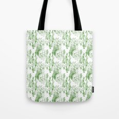 Jamaican Botanicals - Green & White Tote Bag