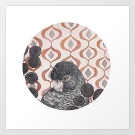 Black Parrot Art Print