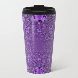 Encrusted Amethyst Purple Gems February Birthstones art Travel Mug