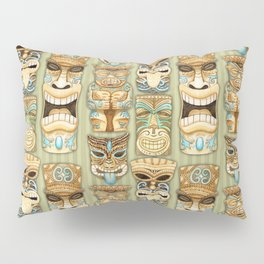 Tropical Hawaiian Deluxe Tiki Party Pattern Pillow Sham