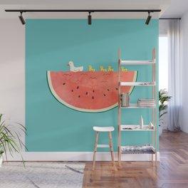 duckies and watermelon Wall Mural