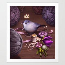 Queen of Skein Art Print
