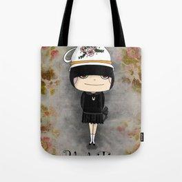 Black Tea Girl Tote Bag