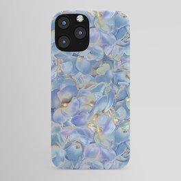 Blue Hydrangea Petals iPhone Case