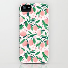 Lemon Mimosa Coral  iPhone Case