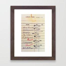 Library Card 23322 Framed Art Print