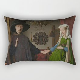 Van Eyck - Arnolfini Portrait Rectangular Pillow