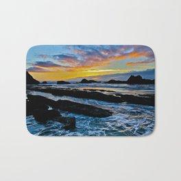 Sunset Oregon Coast Bath Mat