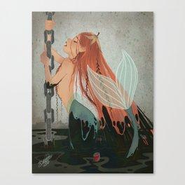 MERMAY 2018 Pollution Mermaid Canvas Print