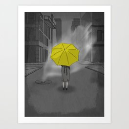 The Girl With The Yellow Umbrella - HIMYM Art Print