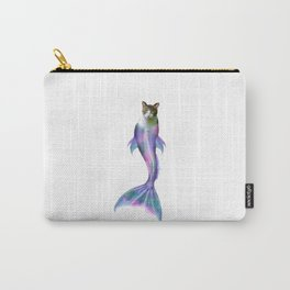 Cat Fish Purrmaid Pun Carry-All Pouch