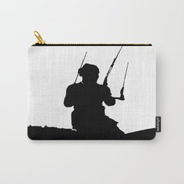Wakeboarder Kitesurfing Silhouette Carry-All Pouch